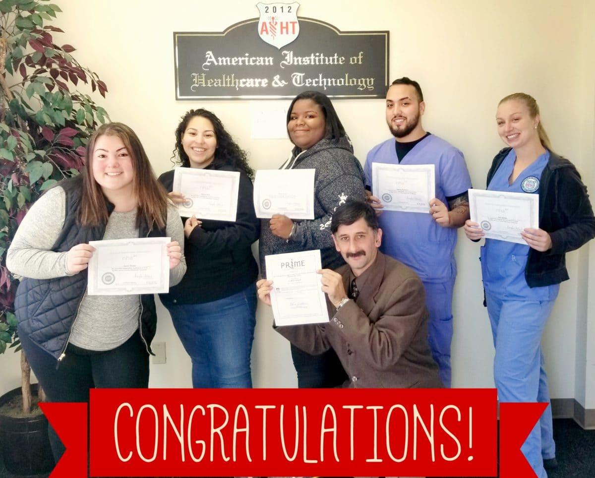 AIHT Students Earn National Phlebotomy Technician Certification